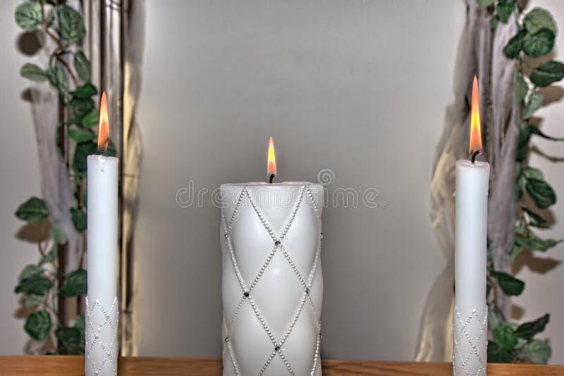 团结蜡烛 免版税库存照片