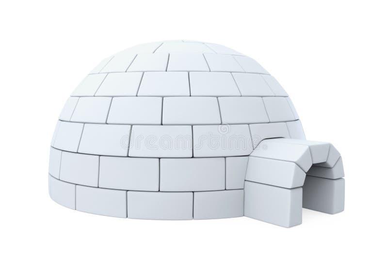园屋顶的小屋冰议院 向量例证