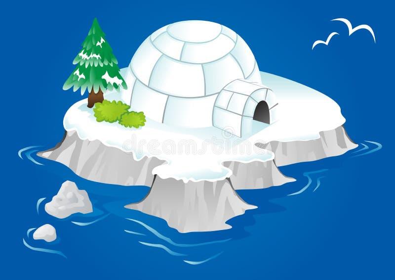 园屋顶的小屋 向量例证