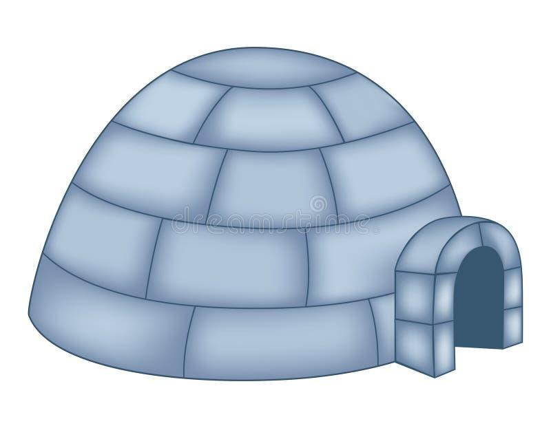 园屋顶的小屋 库存例证