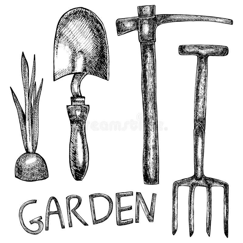 园艺工具的例证 库存例证