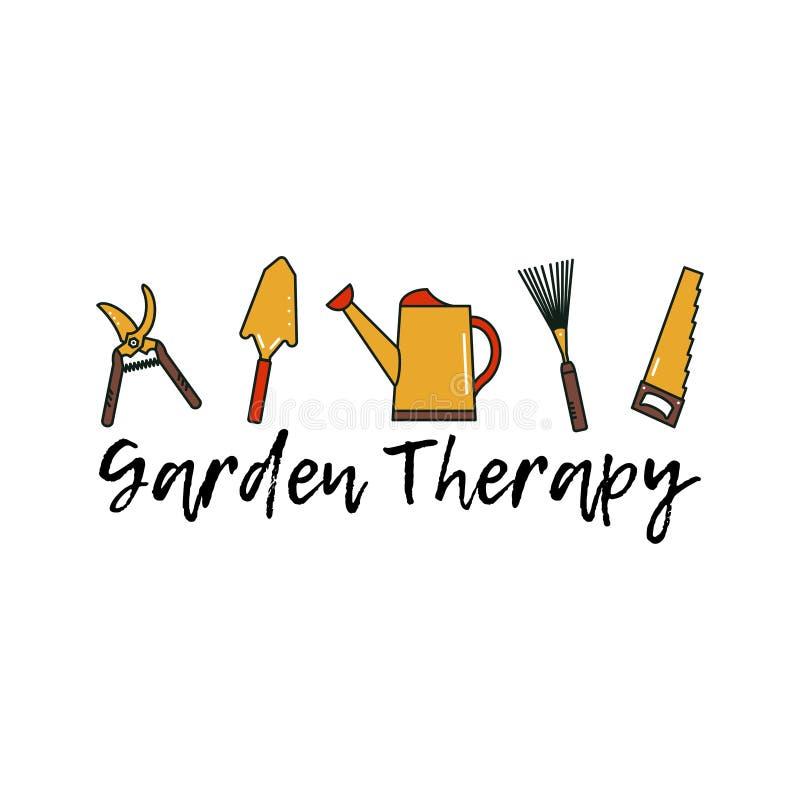 园艺工具 库存例证