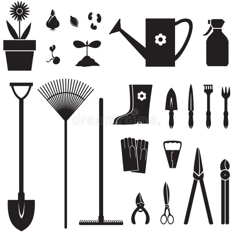 园艺设备集 库存例证