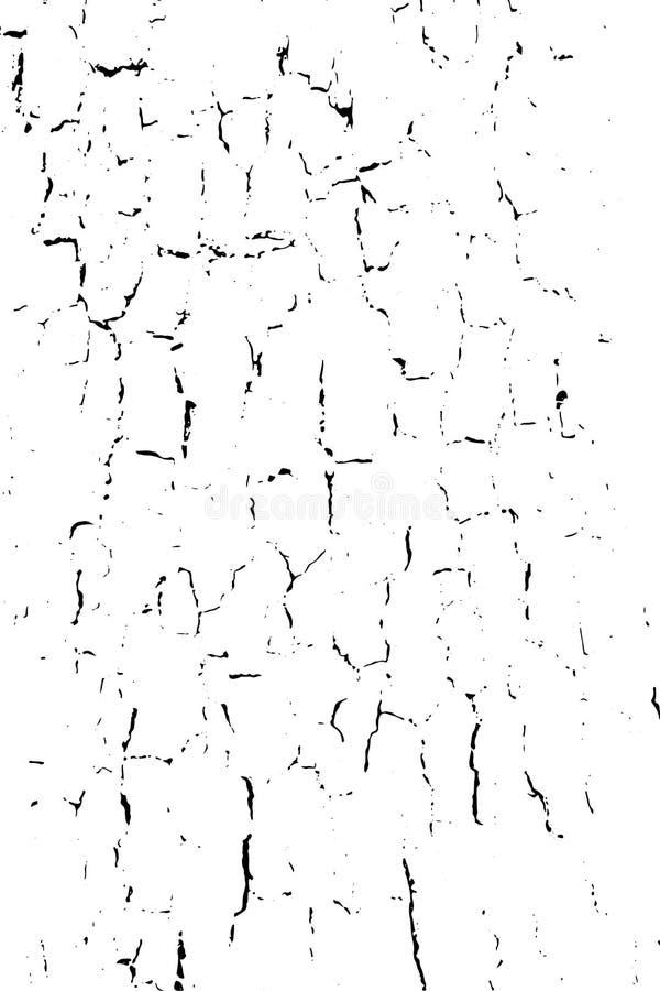 困厄的半音难看的东西黑白传染媒介纹理-与镇压的老木吠声纹理背景创作的 库存例证