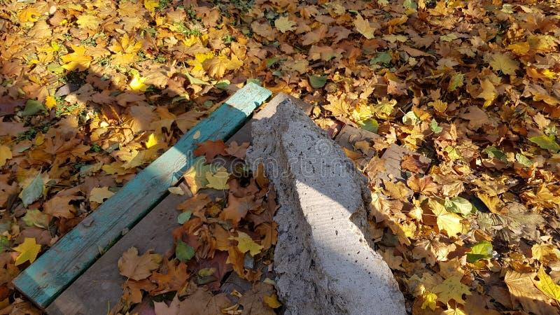 困厄的木板条和概略的水泥块 库存照片