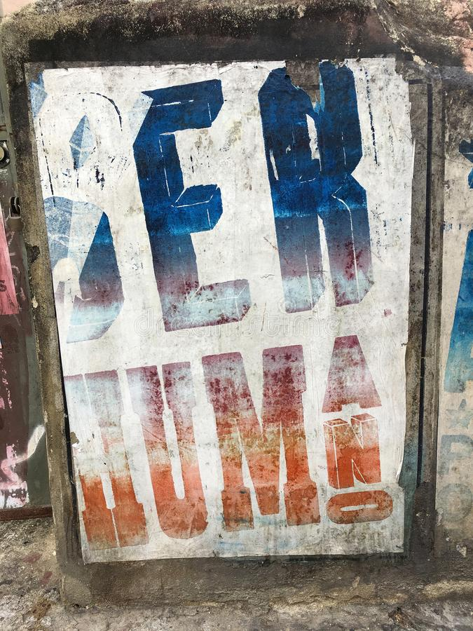 困厄的海报在里约热内卢,巴西 免版税库存图片