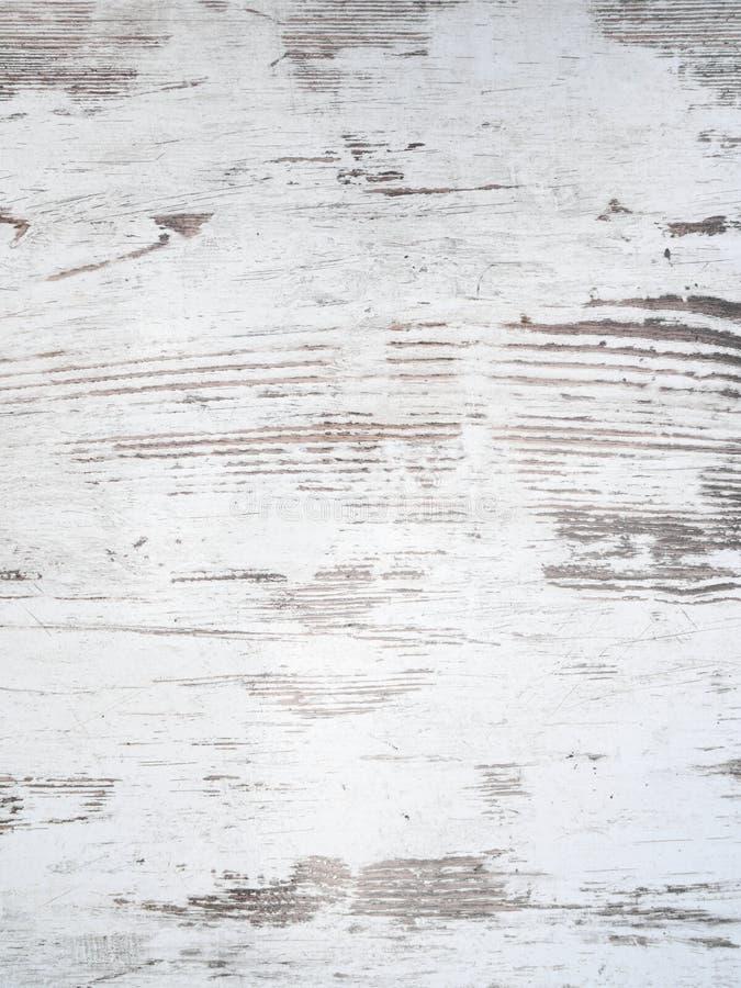 困厄的白色木背景纹理 免版税库存照片