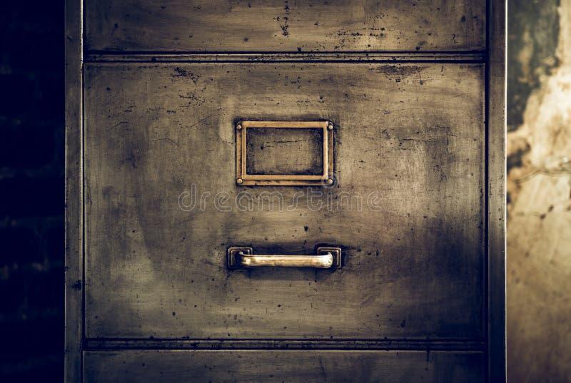 困厄的金属档案橱柜 库存照片