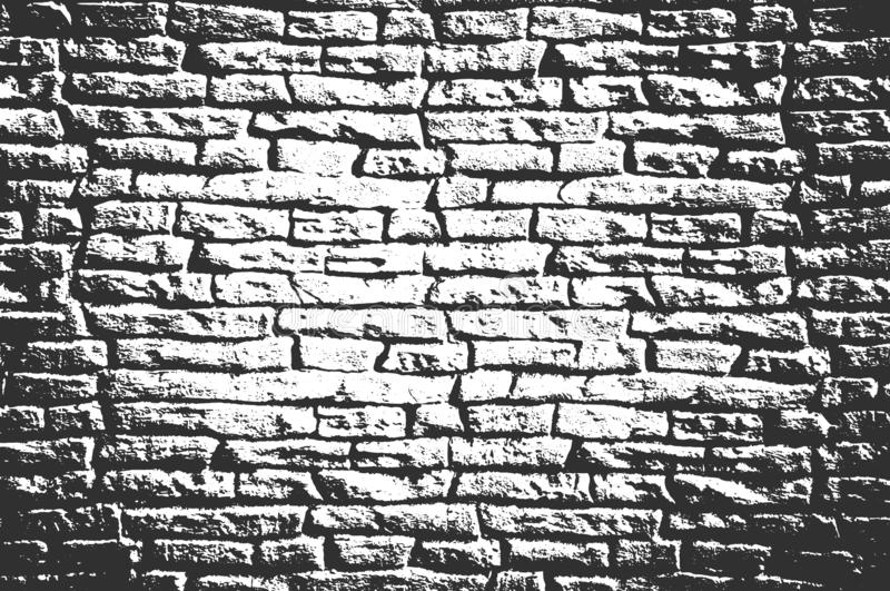 困厄老砖墙纹理 免版税库存照片