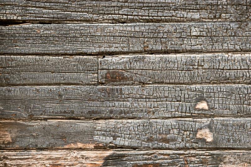 困厄被烧的木板条覆盖物纹理 空的难看的东西被烧焦的设计元素 库存照片