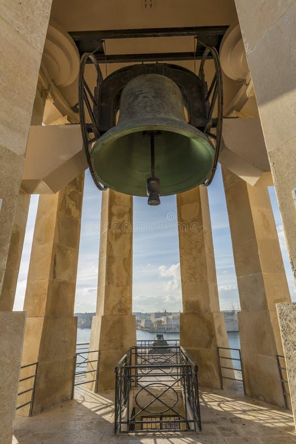 围困响铃战争纪念建筑,瓦莱塔,马耳他 图库摄影