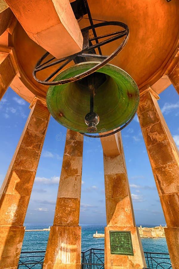 围困响铃纪念品,瓦莱塔,马耳他 免版税库存图片