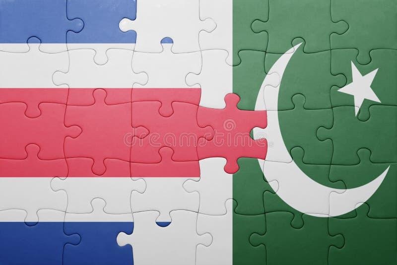 困惑与巴基斯坦和哥斯达黎加的国旗 库存照片
