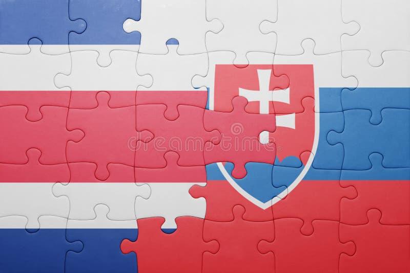 困惑与斯洛伐克和哥斯达黎加的国旗 免版税库存照片
