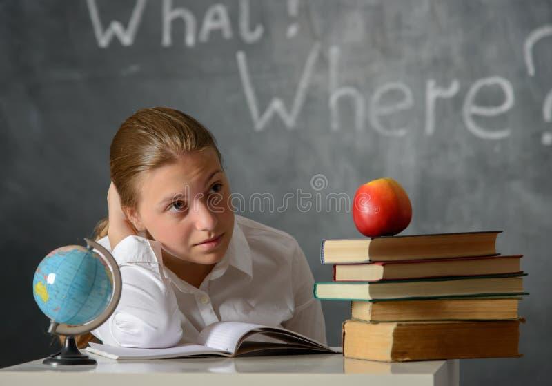 困惑的学生 库存照片