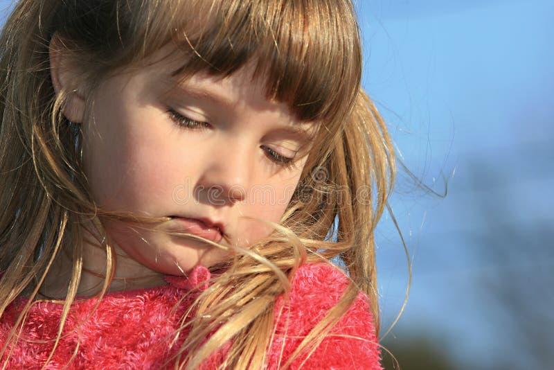 困的女孩 免版税库存照片