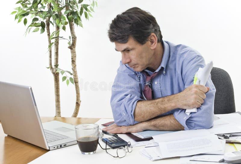 困难的业务决策 免版税库存图片