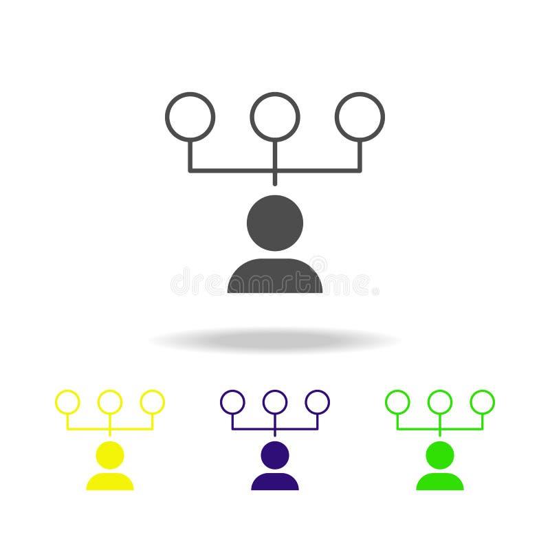 困难的选择上色了象 被克服的挑战例证的元素 标志和标志汇集象网站的,网 向量例证
