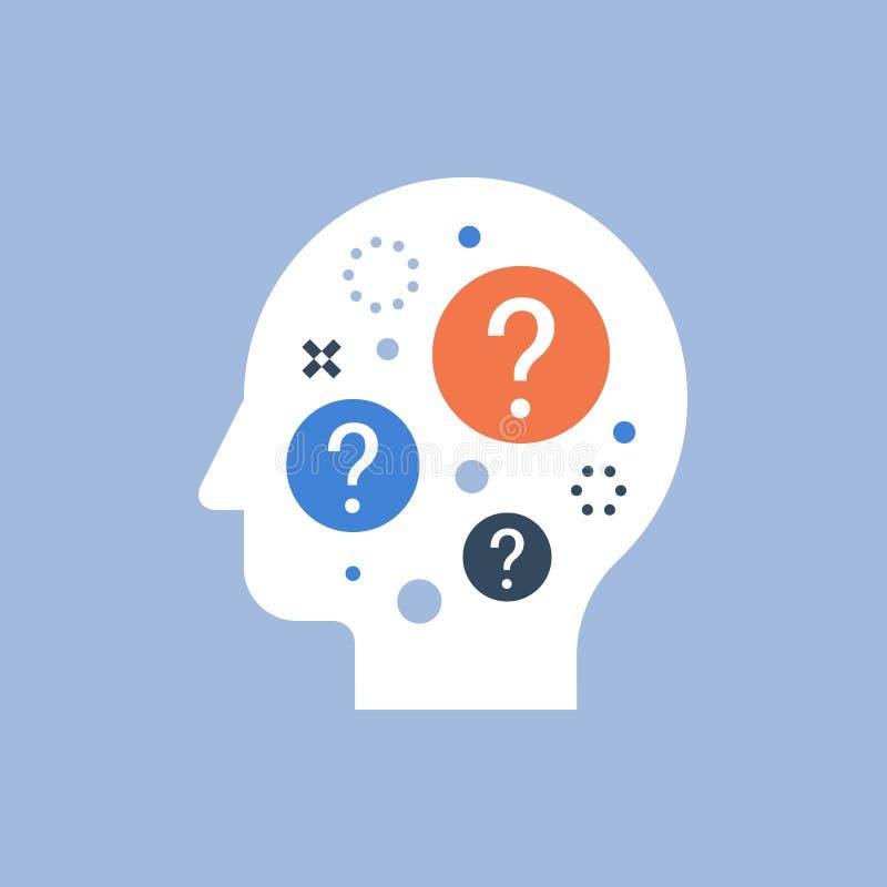 困难的选择,政策制定,行为科学,问的自已,求知欲概念 向量例证
