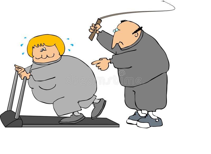 困难锻炼 库存例证