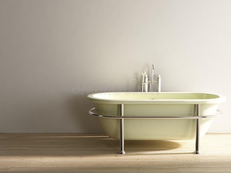 围住的浴缸空白表面