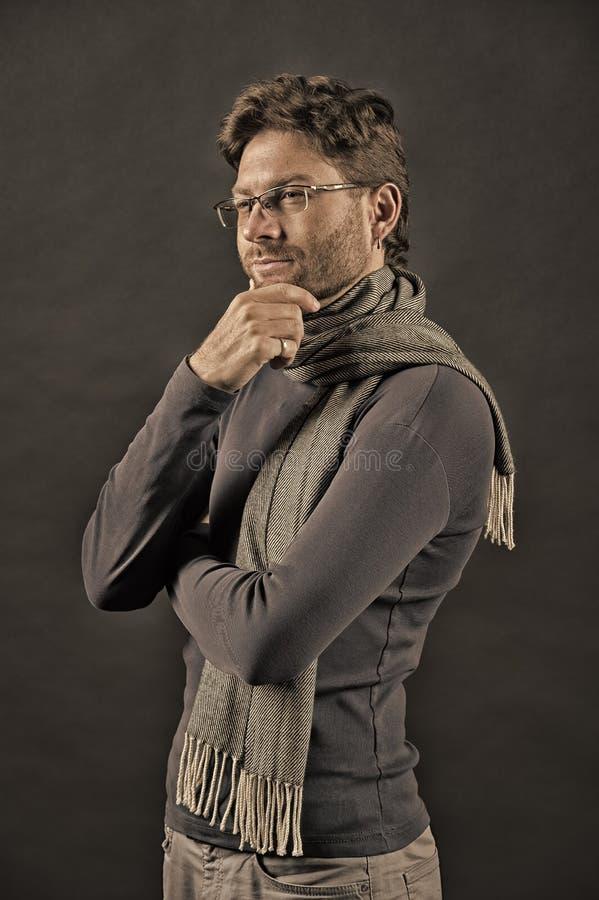围巾和毛线衣的人 图库摄影