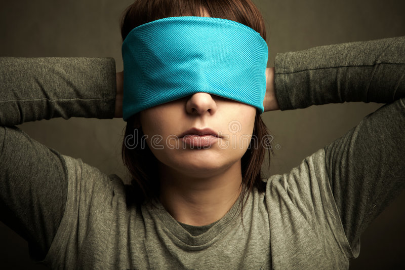 围巾妇女 免版税库存图片