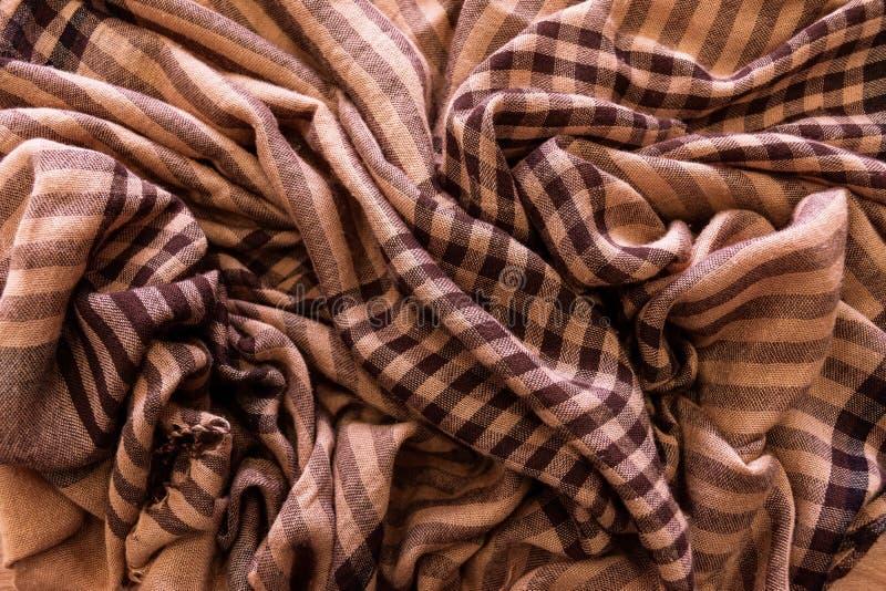 围巾样式格子花呢披肩格子呢纹理背景 图库摄影