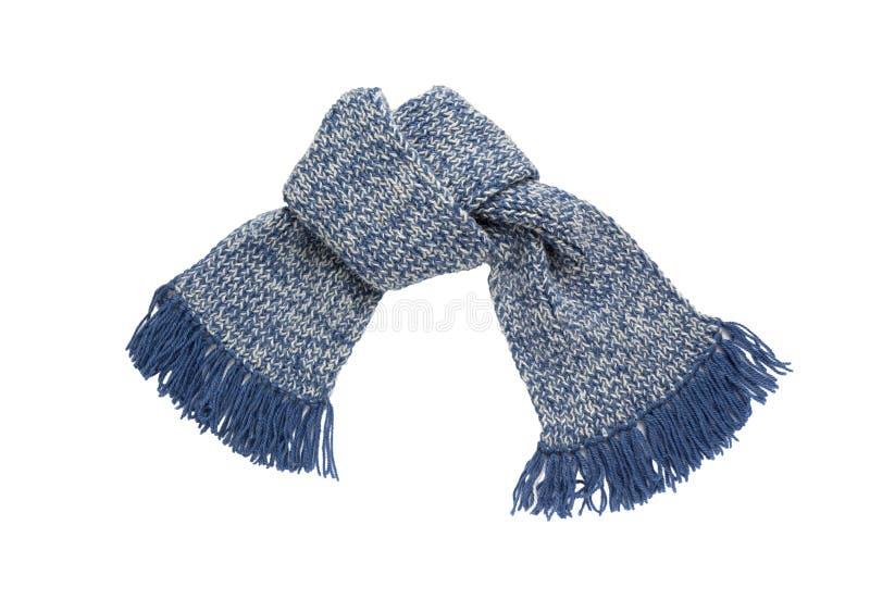 围巾被编织的手工 五颜六色的羊毛围巾 免版税库存照片