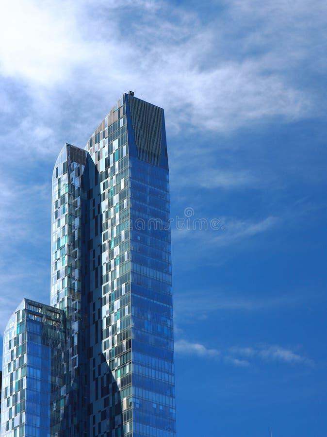 围拢从中央公园, NYC,美利坚合众国的摩天大楼细节  免版税库存图片