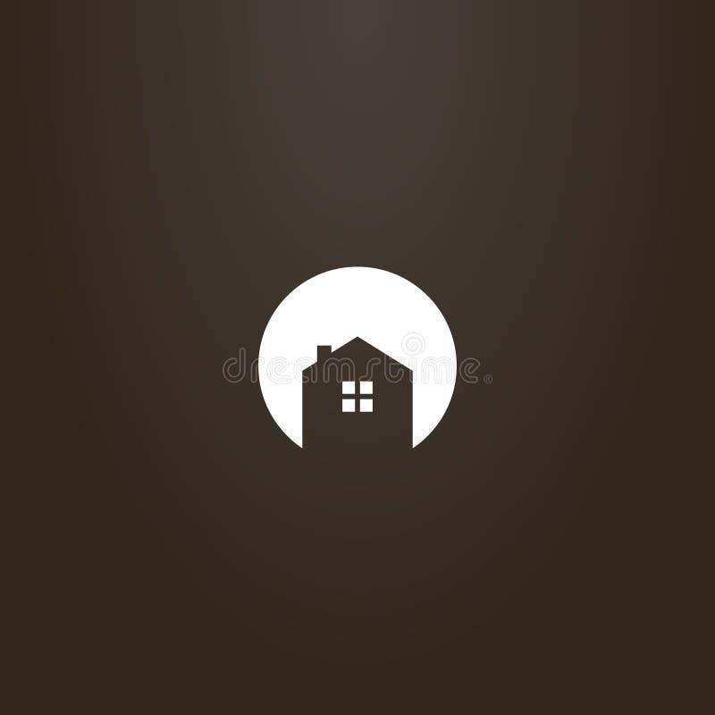 围绕一个私有房子的消极空间标志的简单的平的艺术传染媒介 皇族释放例证