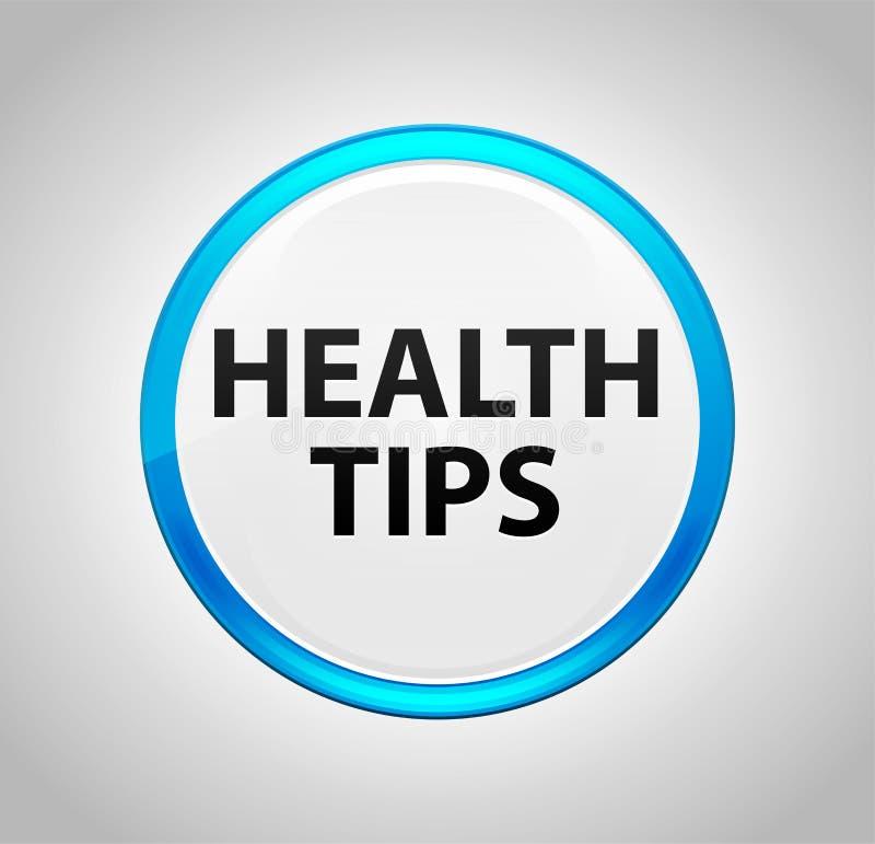 围绕蓝色按钮的健康技巧 向量例证