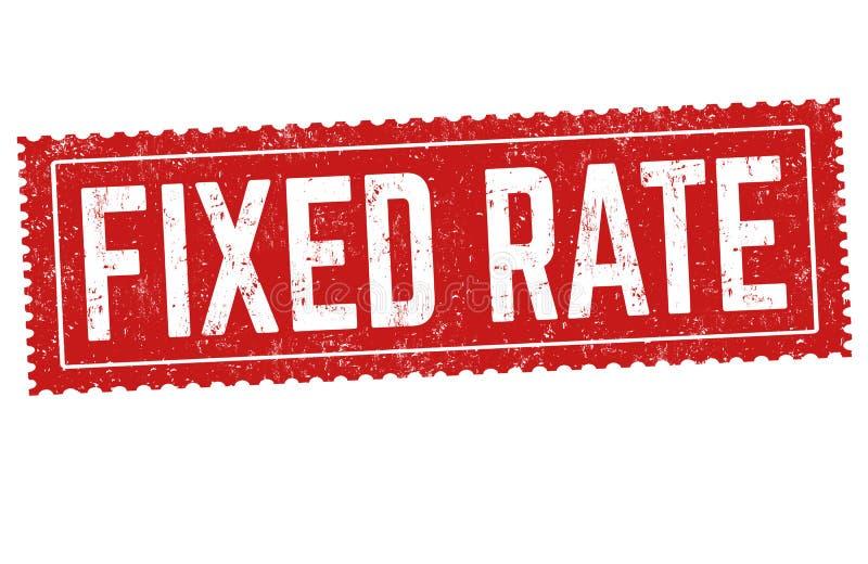 固定利率标志或邮票 向量例证