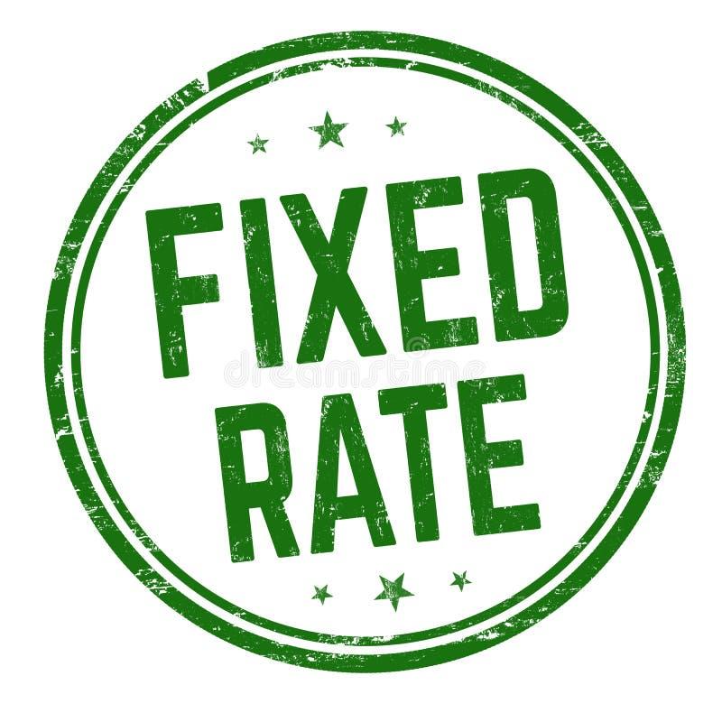 固定利率标志或邮票 库存例证