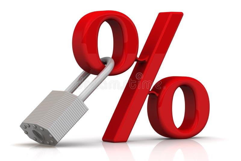 固定利率率 库存例证