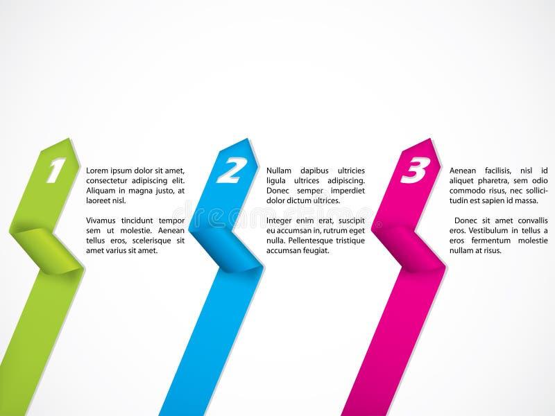 固定式丝带设计集 向量例证