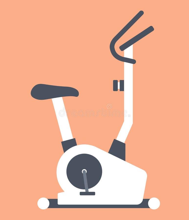 固定式或锻炼脚踏车 库存例证
