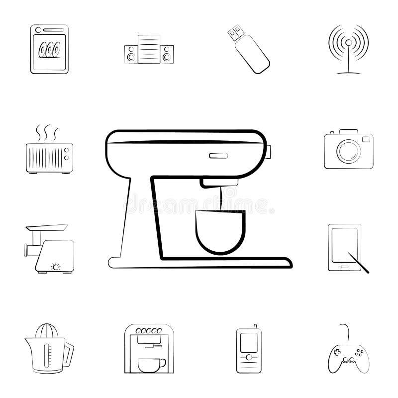 固定式搅拌器象 详细的套家电 优质图形设计 其中一个网站的汇集象,网desi 皇族释放例证