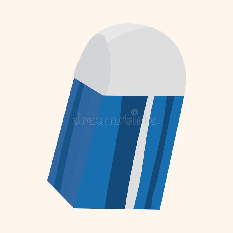 固定式橡皮擦题材元素传染媒介, eps 库存例证