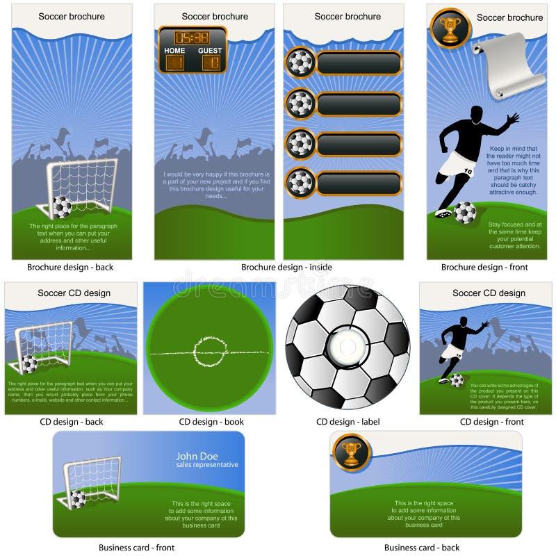 固定式球的足球 皇族释放例证