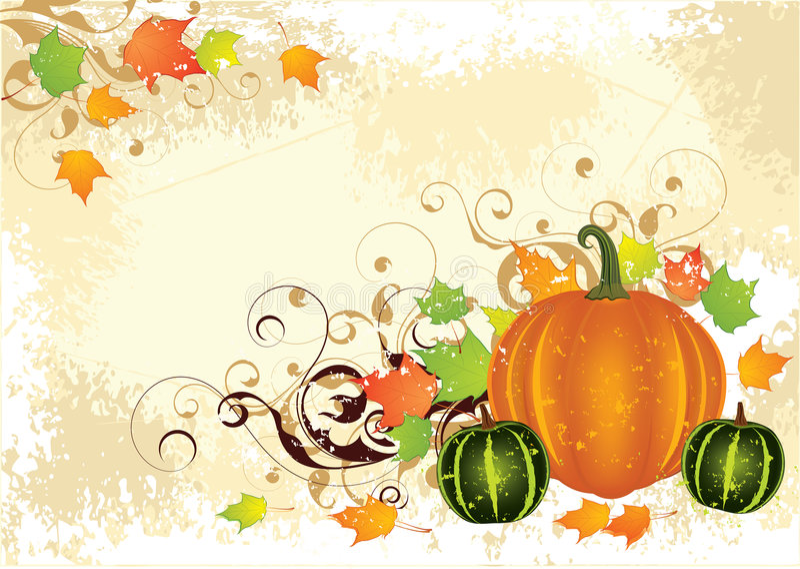 固定式的秋天 向量例证