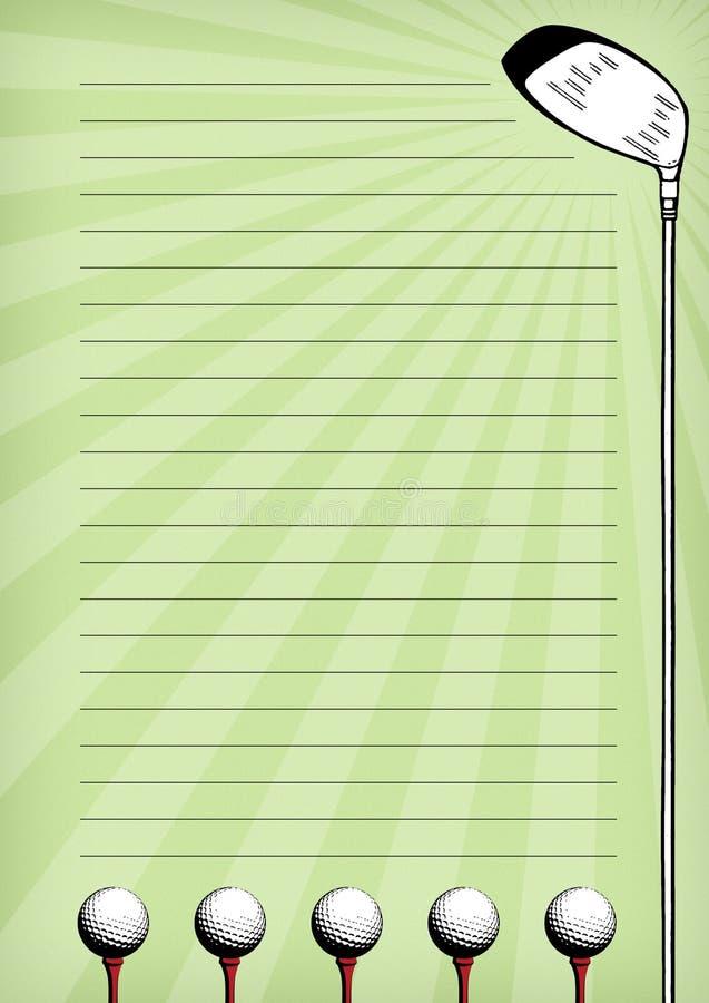 固定式的高尔夫球 皇族释放例证