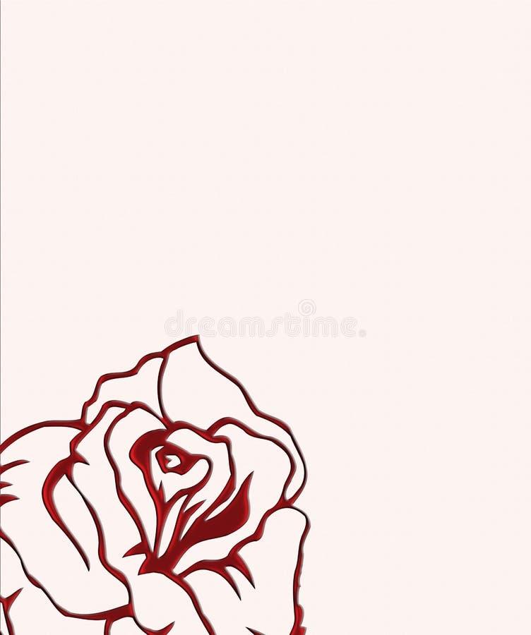 固定式粉红色的玫瑰 库存例证