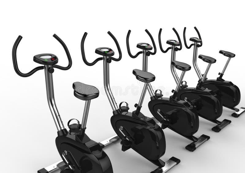 固定式自行车行  库存例证