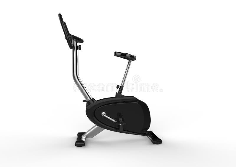 固定式自行车-侧视图 库存例证