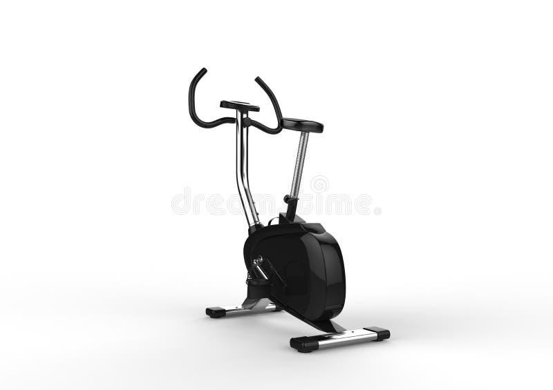 固定式自行车-后面看法 向量例证
