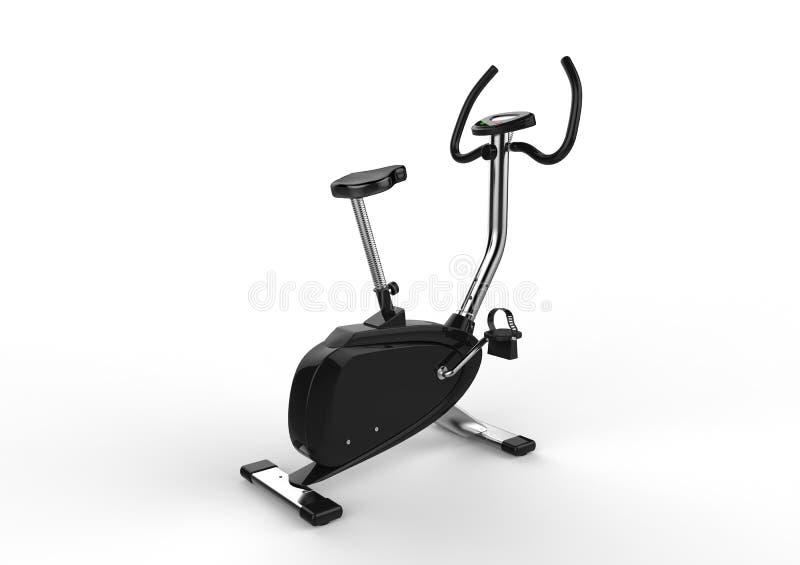 固定式自行车-后面看法 皇族释放例证