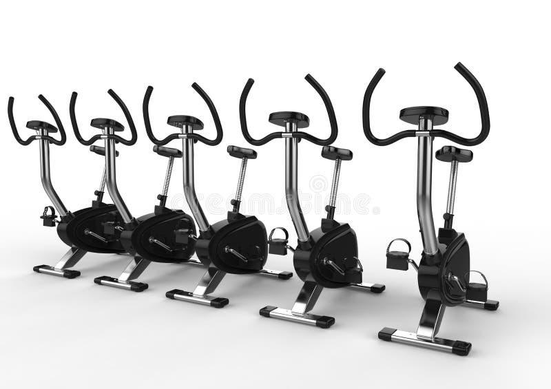 固定式自行车-角度射击 皇族释放例证