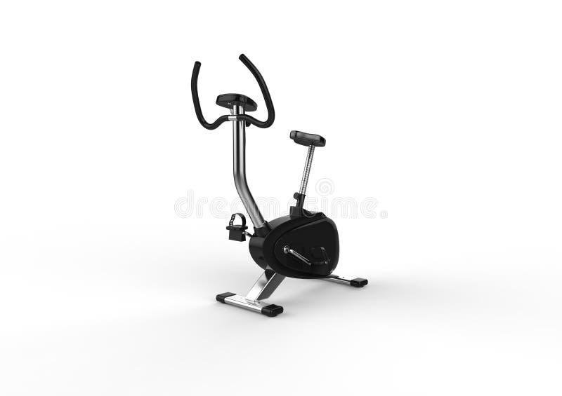 固定式自行车-透视射击 库存例证