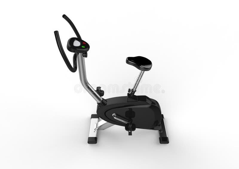 固定式自行车-顶端视图 皇族释放例证